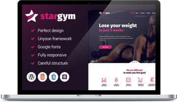 Stargym WordPress